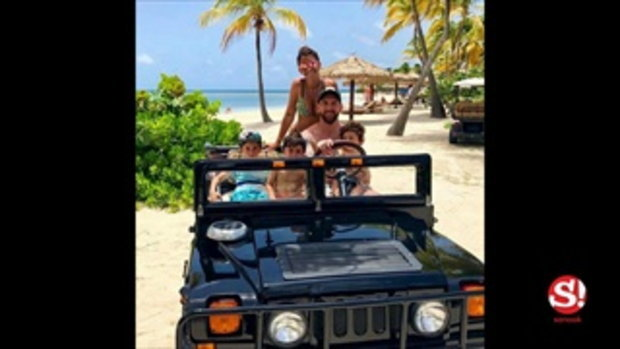 ควักทุ่มไม่อั้น! เมสซี่ หอบครอบครัวพักร้อนทะเลแคริบเบียน