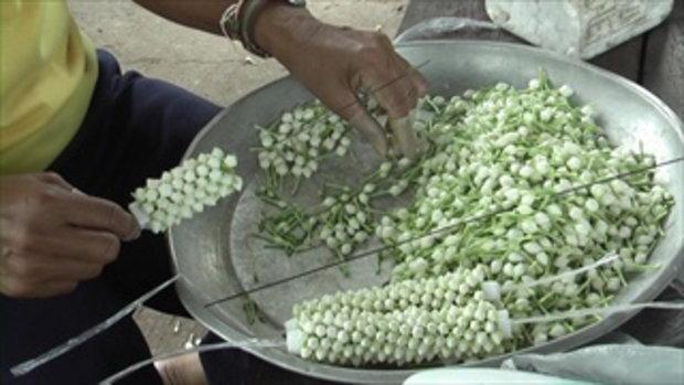 ชาวบ้านใช้ดอกพุดทำมาลัยแทนมะลิ คาดก่อนวันแม่ราคาปรับสูงหลายเท่าตัว
