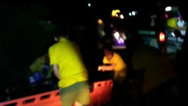 ดวงไม่ถึงฆาต 2 หนุ่มถูกรถชนร่างกระเด็น รถพ่วงเฉี่ยวซ้ำ รอดตายราวปาฏิหาริย์ทั้งคู่