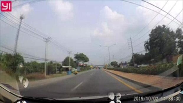 ล้อมหาภัย! นาทียางรถบรรทุกก๊าซหลุดปลิว ลอยกระแทกรถครูสะดุ้ง