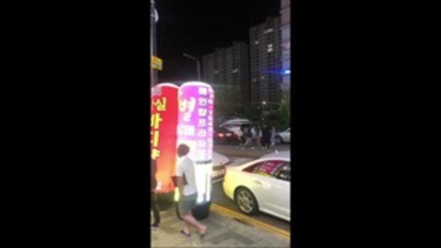 สาวไทยเปิดฉากตบกันกลางถนนเกาหลี ตะโกนลั่น