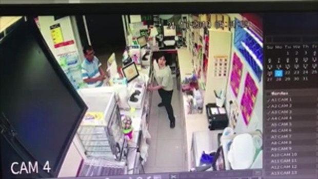 จับผู้ช่วยผู้จัดการร้านสะดวกซื้อ บุกปล้นร้านอีกสาขา