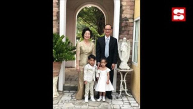 โอปอล์-หมอโอ๊ค อุ้มลูกแฝดแต่งชุดไทย ร่วมงานแต่ง โอเปก น้องชายสุดที่รัก