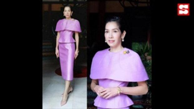 นุสบา เล่าความภูมิใจ ใส่ชุดผ้าไหมไทยต้อนรับแขกบ้านแขกเมือง สวยสะกดทุกสายตา