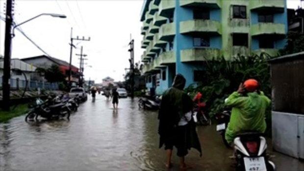 จับตาวิกฤตน้ำท่วมใต้ แม่น้ำโก-ลกเอ่อท่วมชุมชน-จ่อสั่งอพยพ ฝนไม่มีทีท่าหยุด