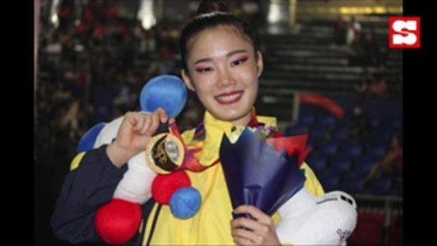 ชนะใจกรรมการ! น้องปิ่น ยิมสาวไทยโชว์ควงคฑาคว้าทองซีเกมส์ 2019