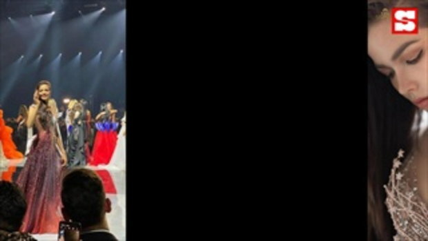 ฟ้าใส ปวีณสุดา พาชุดราตรีสีแดงเพลิงแบรนด์ไทย เข้ารอบ 5 คนสุดท้ายMiss Universe 2019