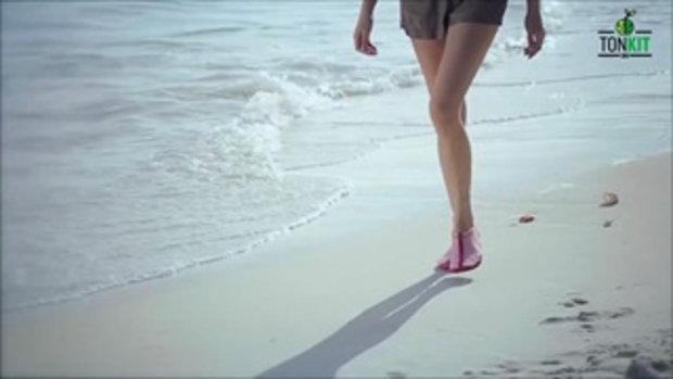 กีฬาแกะกล่อง : Walk & Swim รองเท้าใส่ว่ายน้ำเดินชายหาด