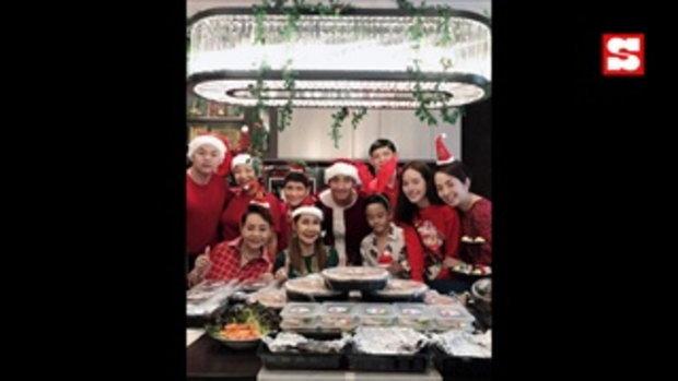หวานมาก โตโน่-ณิชา ฉลองคริสต์มาสด้วยกันที่บ้านพร้อมหน้าครอบครัว