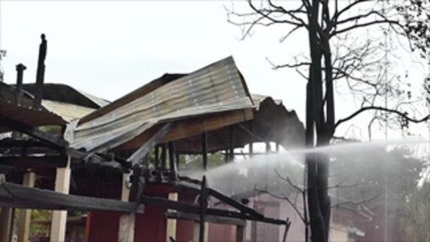 เพลิงไหม้โรงเรียน ใน สุโขทัย วอดทั้งหลัง เหลือแค่พระบรมฉายาลักษณ์ในหลวงรัชกาลที่ 9