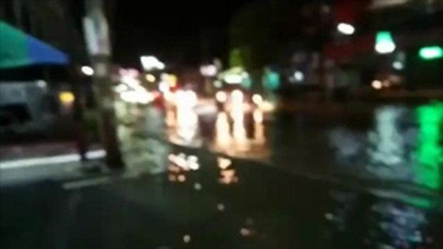 เทศบาลเมืองคอนน้ำยังท่วมสูง