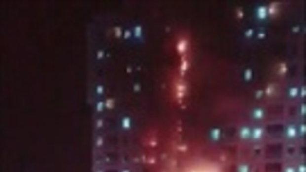 ระทึก! ไฟไหม้คาสิโนสูง 18 ชั้น ที่ฝั่งปอยเปต กัมพูชา 1/2