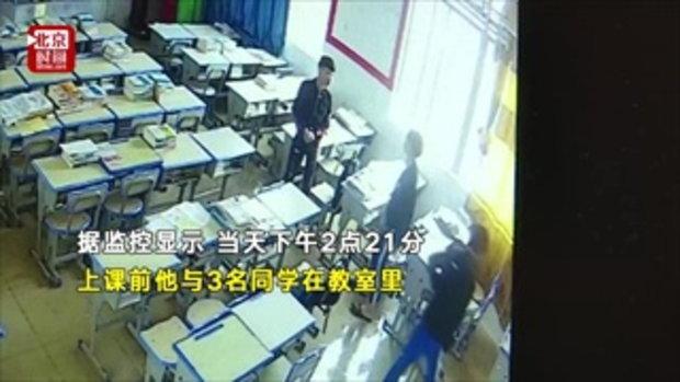 มือถือมรณะ นักเรียนจีนปีนหน้าต่างชาร์จแบต ดิ่งตึกเรียนกระแทกพื้นดับ