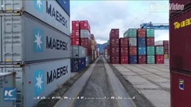"""""""โจวซาน"""" ท่าเรือที่ """"งานยุ่ง"""" ที่สุดในโลก ณ จุดบรรจบเส้นทางสายไหมทางบก-ทะเล"""