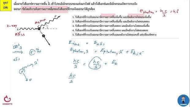 ตีโจทย์ PAT 2 ฟิสิกส์ (by TutorNat) ชุดที่ 7 ข้อ 28 รังสีเอกซ์