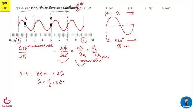 ตีโจทย์ PAT 2 ฟิสิกส์ (by TutorNat) ชุดที่ 9 ข้อ 10 คลื่น