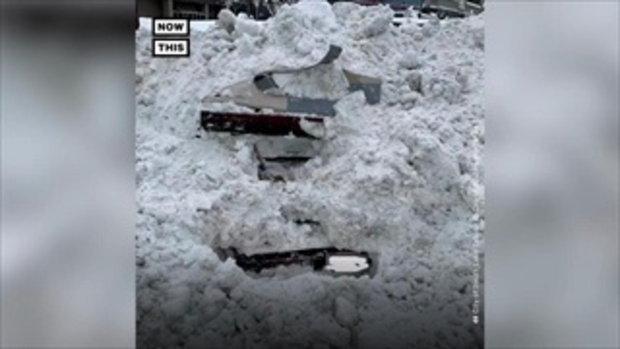 ตำรวจมะกันอึ้ง เก๋งถูกหิมะฝังกลบ ขุดขึ้นมาเจอหญิงคนขับยังไม่ตาย