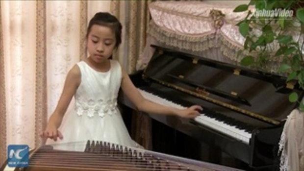 หมวยจีนวัย 10 ขวบ โชว์เล่นเปียโน-กู่เจิ่ง พร้อมกัน ทั้งที่ฝึกแค่ไม่กี่เดือน