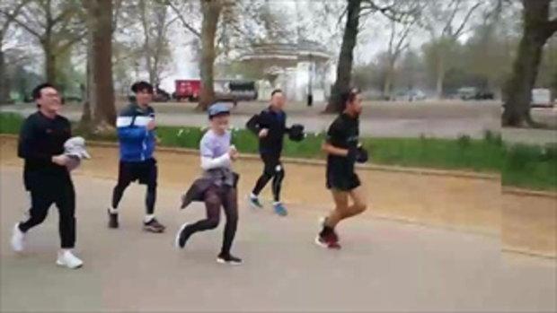 ตูน บอดี้สแลม เซอร์ไพรส์สื่อไทย นำขบวนวิ่งที่ Hyde Park ประเทศอังกฤษ