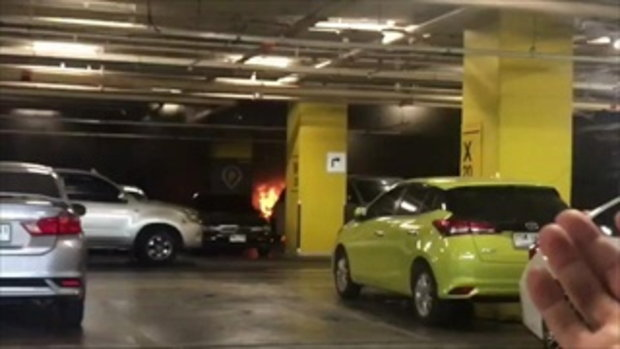 ดูอีกมุม! คลิปไฟไหม้ลานจอดรถเซ็นทรัลเวิลด์ ผู้คนวิ่งหนีเอาชีวิตรอด
