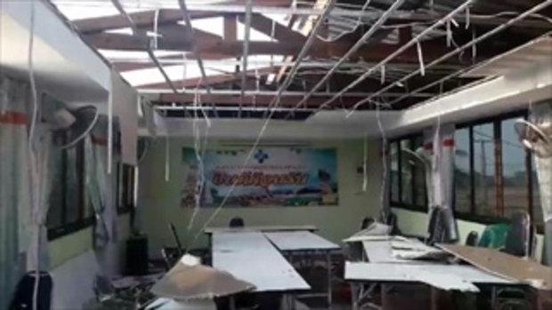 อ่วมอีก อ.ท่าอุเทน พายุถล่ม วันเดียว บ้านพังกว่า 80 หลัง