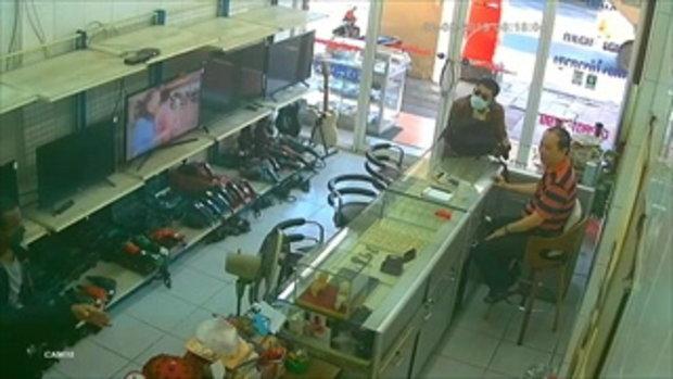 เปิดภาพนาทีโจรบุกปล้นร้านเพชร ย่านเพชรเกษม