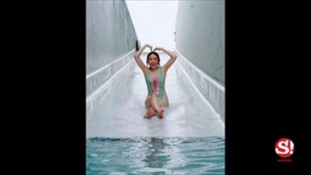 อื้อหือ หญิงแย้ มากับชุดว่ายน้ำที่ไม่ธรรมดา สะดุดทุกสายตาตรงแผงขน