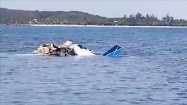เครื่องบินฮอนดูรัสตกกลางทะเลหลังขึ้นเทคออฟ นักท่องเที่ยวต่างชาติดับ 5