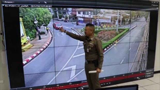 หนุ่มซิ่งสนั่นคูเมือง โชว์ยืนเบาะรถสองล้อ เลี้ยวรถจบที่โรงพักรับ 3 ข้อหา