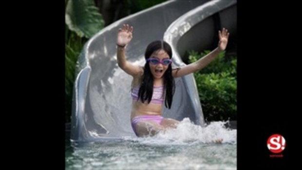"""จำแทบไม่ได้ """"น้องณดา"""" ใส่ชุดว่ายน้ำ สะบัดผมเปียกอย่างกับนางแบบมืออาชีพ"""