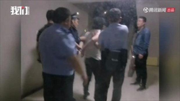 นักศึกษาหนุ่มจีนควงมีดเผชิญหน้ากับ รปภ. ตำรวจเผยป่วยซึมเศร้า