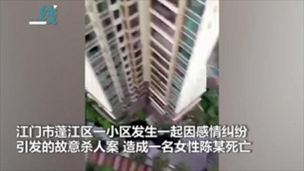 ชายฆ่าเมียเก่า ทะเลาะรุนแรง ก่อนพาลูกชายดิ่งยอดตึกสูง ดับตาม