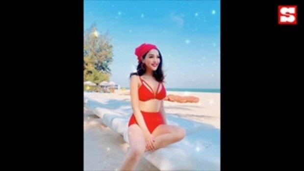 แอร์ ภัณฑิลา ถูกแซวหนักใส่ชุดว่ายน้ำเว้าสูง ไม่รู้จะโฟกัสจุดไหนดี