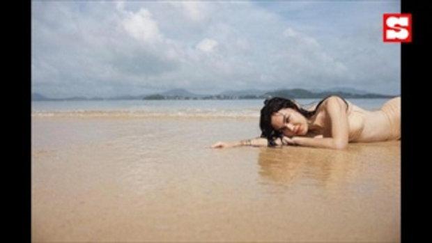 สูงยาวเข่าดี แมท ภีรนีย์ อวดหุ่นเป๊ะ ในชุดว่ายน้ำเดินชิลล์ริมหาด ชาวเน็ตแจกหัวใจรัวๆ