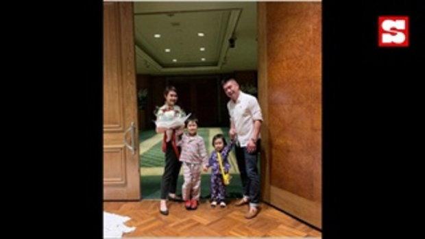 นิหน่า-แบงค์ ครบรอบ 9 ปี ลูกๆ เป็นพยานรัก ยกครอบครัวฉลองสถานที่ที่เคยจัดงานแต่ง