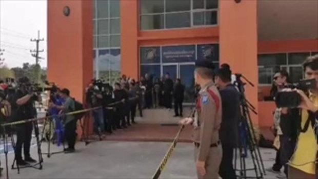 ตร.เตรียมคุมตัวผู้ต้องหา ชิงทอง มาสอบที่ สถานีตำรวจท่องเที่ยวลพบุรี