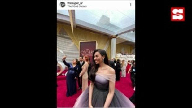 แก้ม วิชญาณี เจ้าหญิงเอลซ่าเมืองไทย สวย เจิดจรัส บนพรมแดงออสก้าร์ ครั้งที่ 92