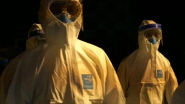 เจ้าหน้าที่ ใส่ชุดป้องกันโรค รับคนไทยจากอู่ฮั่น ที่สนามบินอู่ตะเภา