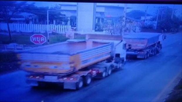 รถพ่วงซิ่งนรกชนแผงกั้นรถไฟ ทับซาเล้งหลวงลุงกลับจากบิณฑบาต คร่าชีวิต 2 ศพ