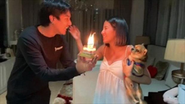 ดีเจแมน เซอร์ไพรส์วันเกิดใบเตยสำเร็จครั้งแรกในชีวิต