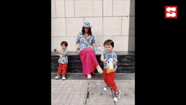 ชมพู่ กับวิถีผู้ปกครอง2020 แม่ลูกธีมเสื้อฮาวาย พี่ๆ แซวแก้ม น้องพายุ