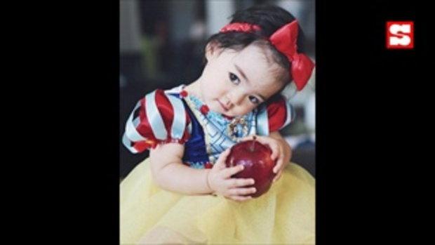น่ารักมั้ยคะ น้องเดมี่ แปลงโฉมเป็น สโนว์ไวท์ แก้มแดงกว่าแอปเปิ้ลในมืออีก