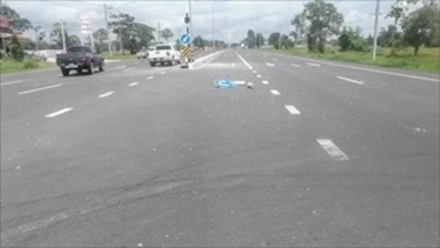 คลิปกล้องวงจรปิดภาพรถปิกอัพเหินข้ามเลน 11 ชีวิตรอดตายหวุดหวิด