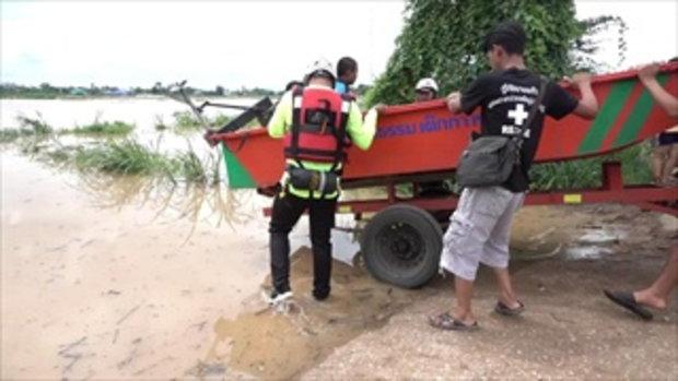 น้ำท่วมสุโขทัยยังอ่วม! รถเล็กสัญจรไม่ได้ เสาไฟฟ้าแรงสูงล้มเสียหาย