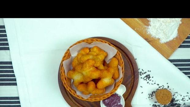 ปาท่องโก๋ดิปสังขยามันม่วง Chinese Donut  & Sweet potato custard