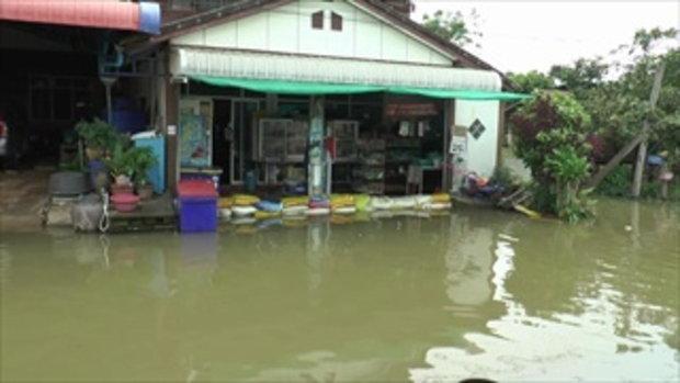 โคราช-น้ำท่วมขังนานกว่าสัปดาห์    ชาวบ้านป่วยกัดเท้า ขาเริ่มเป็นแผลเน่า