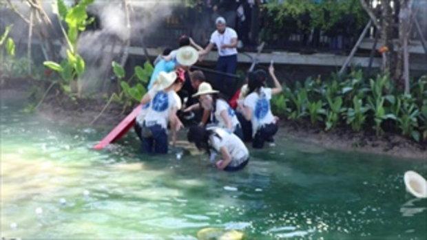 สะพานล่ม ทำผู้เข้าประกวดนางสาวไทยตกน้ำกว่า 30 คน บาดเจ็บ 3 คน
