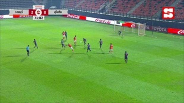คลิปไฮไลท์ ฟุตบอลโตโยต้าไทยลีก ราชบุรี มิตรผล เอฟซี 3 - 1 สุโขทัย เอฟซี