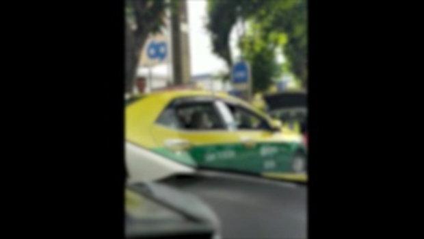 คลิปวินแท็กซี่เถื่อน ยึดป้ายรถเมล์อ้างส่งส่วยตำรวจ สน.ยานนาวา