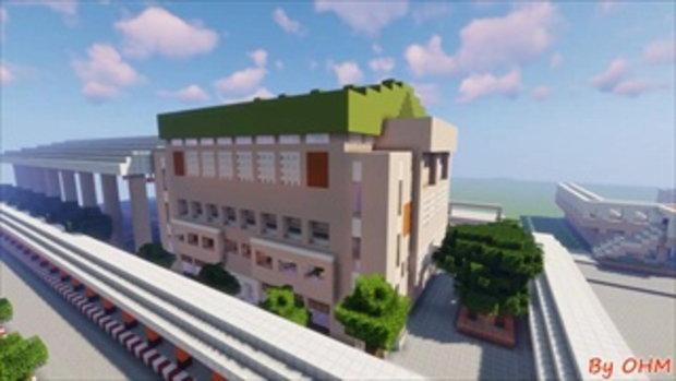 สุดทึ่ง นักเรียน ม.5 เปลี่ยนโรงเรียนเป็นแลนด์มาร์กในเกม สร้างโมเดลจำลองละเอียดยิบ